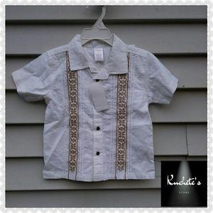 Gymboree White Button Down Toddler Shirt